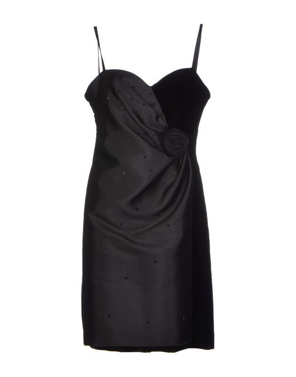 黑色 ARMANI COLLEZIONI 短款连衣裙