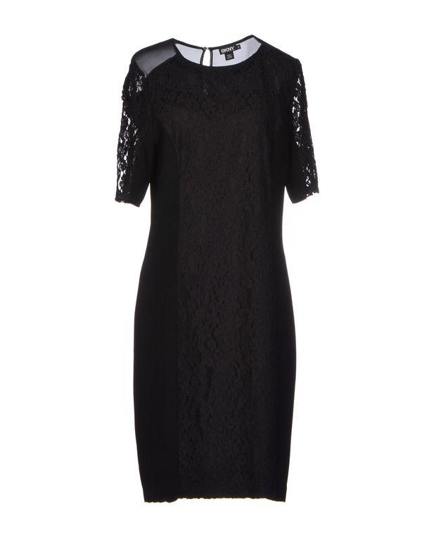 黑色 DKNY 及膝连衣裙