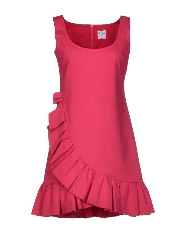 玫红色 REDVALENTINO 短款连衣裙