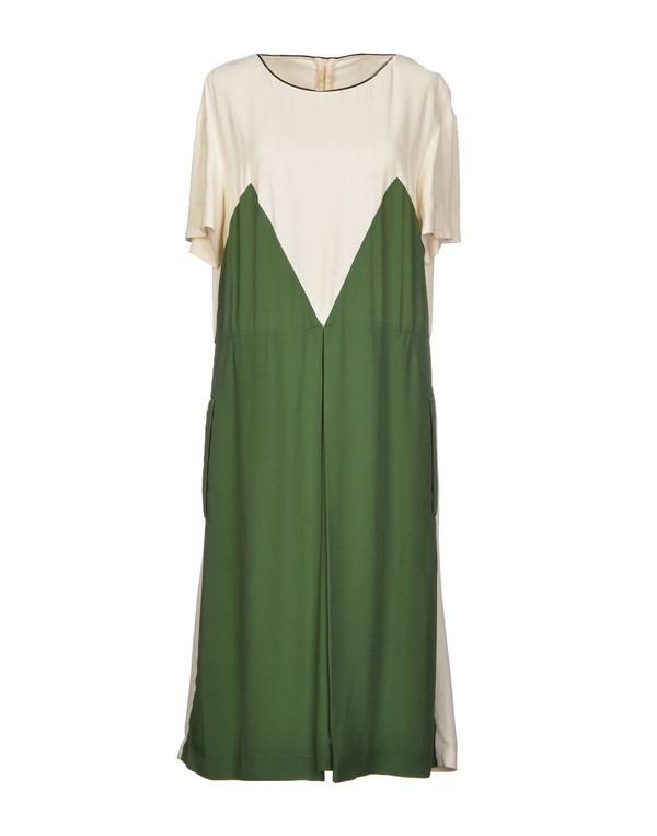 绿色 MARNI 及膝连衣裙