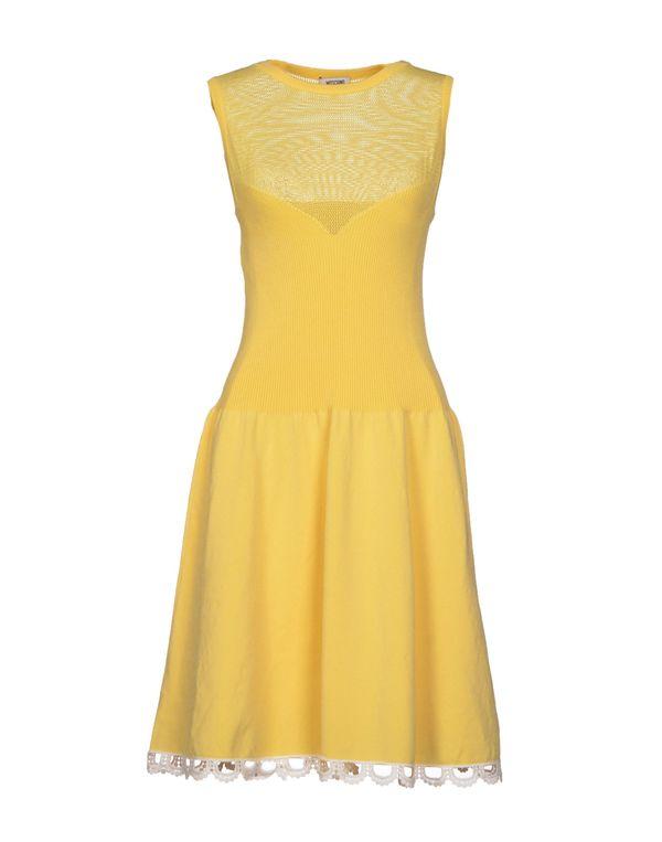黄色 MOSCHINO CHEAPANDCHIC 短款连衣裙