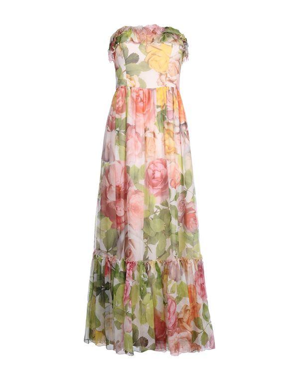 浅粉色 BLUGIRL BLUMARINE 长款连衣裙