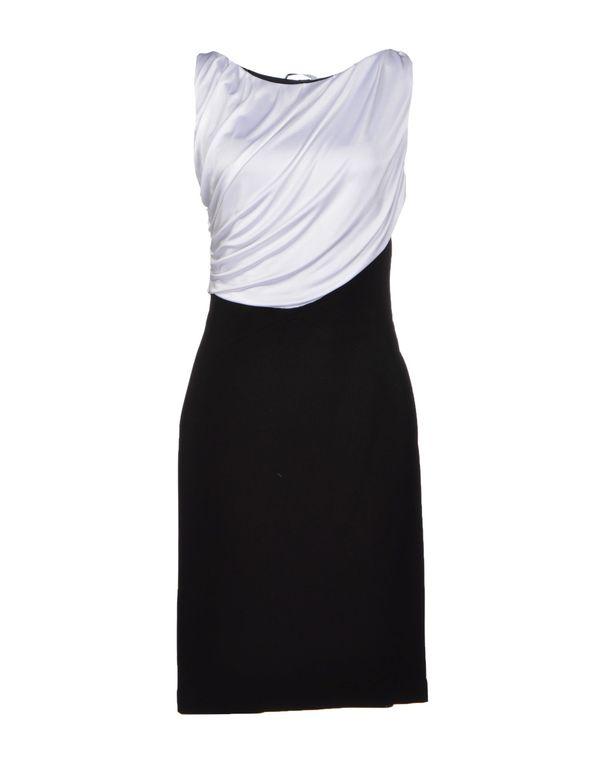 白色 VERSACE COLLECTION 及膝连衣裙