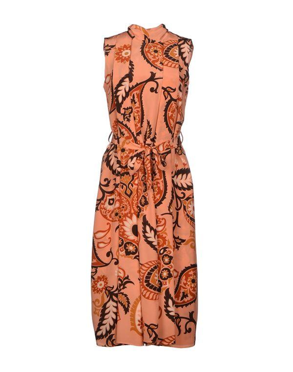 粉红色 GUCCI 及膝连衣裙