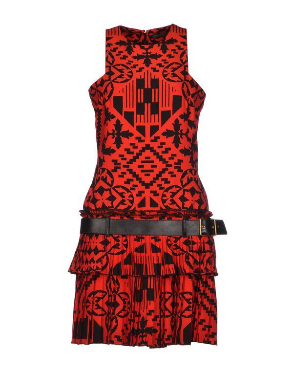 红色 ALEXANDER MCQUEEN 短款连衣裙