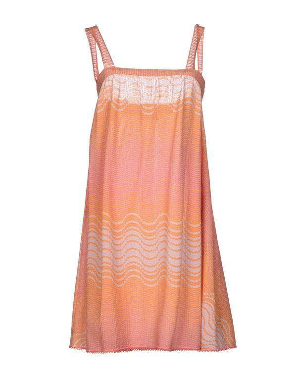 橙色 M MISSONI 短款连衣裙