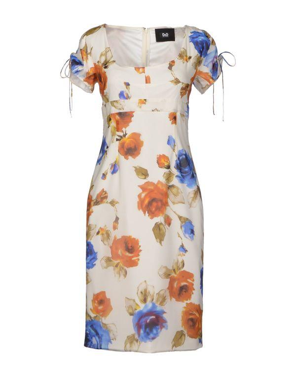 白色 D&G 短款连衣裙