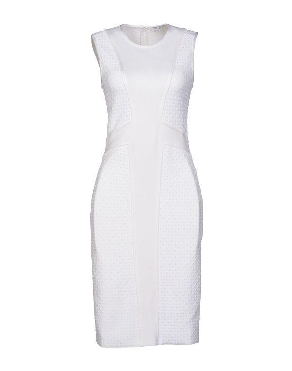 白色 GIVENCHY 及膝连衣裙