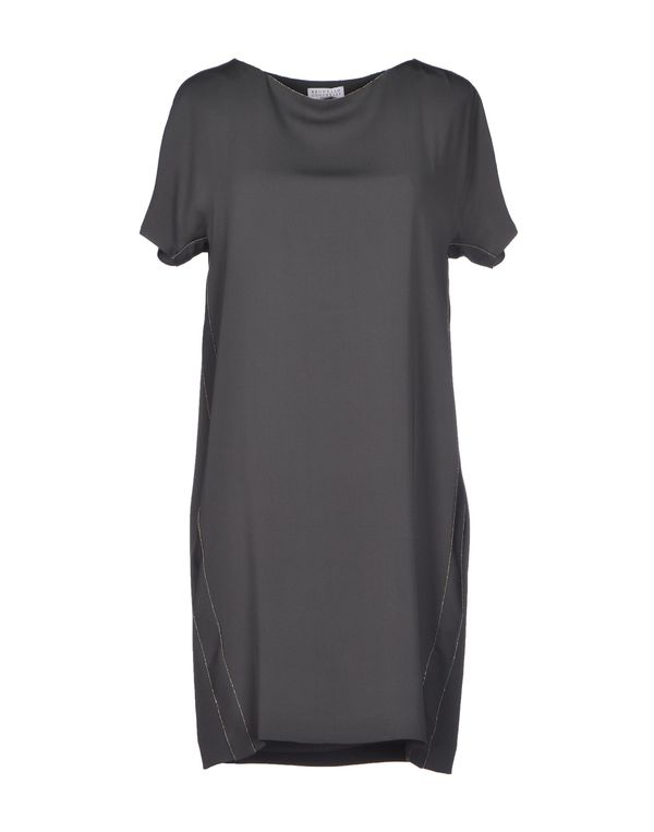 灰色 BRUNELLO CUCINELLI 短款连衣裙