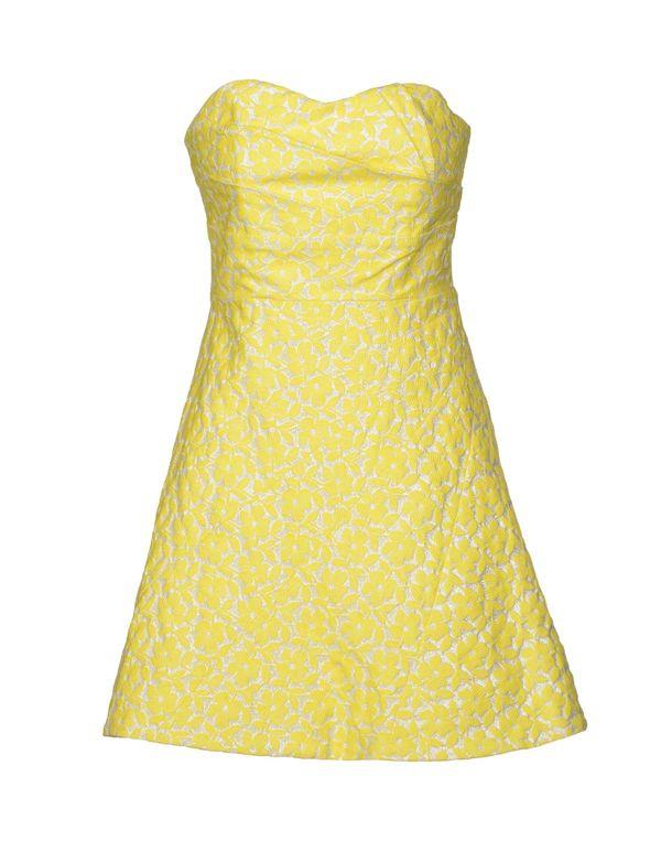 黄色 ALICE+OLIVIA 短款连衣裙