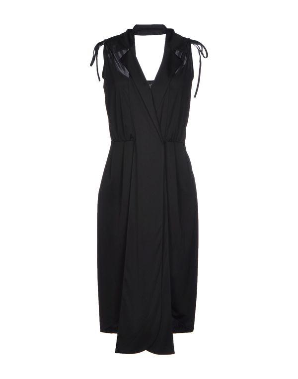 黑色 YVES SAINT LAURENT 及膝连衣裙