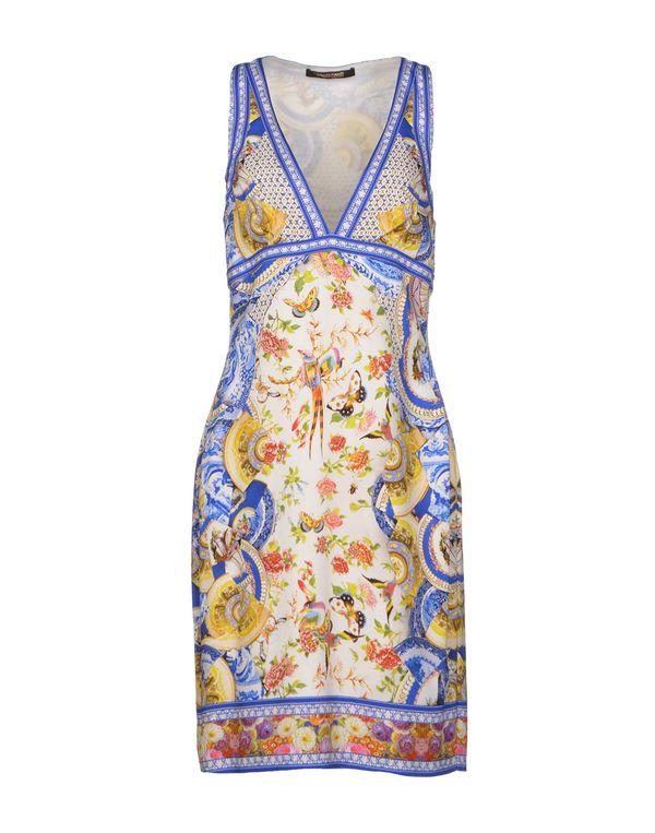 蓝色 ROBERTO CAVALLI 短款连衣裙