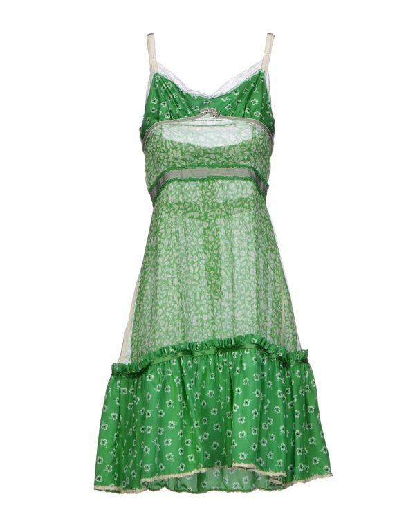 绿色 D&G 短款连衣裙