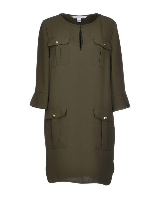 军绿色 DIANE VON FURSTENBERG 短款连衣裙