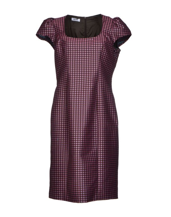 深棕色 MOSCHINO CHEAPANDCHIC 及膝连衣裙
