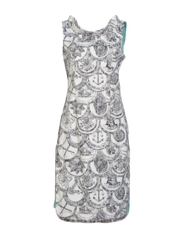 白色 FRANKIE MORELLO 及膝连衣裙