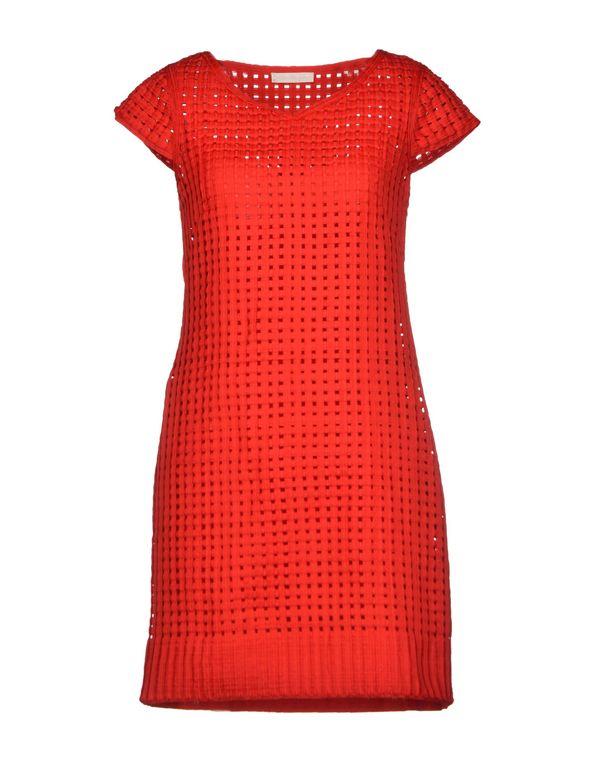 红色 SCERVINO STREET 短款连衣裙