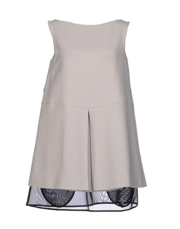淡灰色 MAISON MARTIN MARGIELA 短款连衣裙