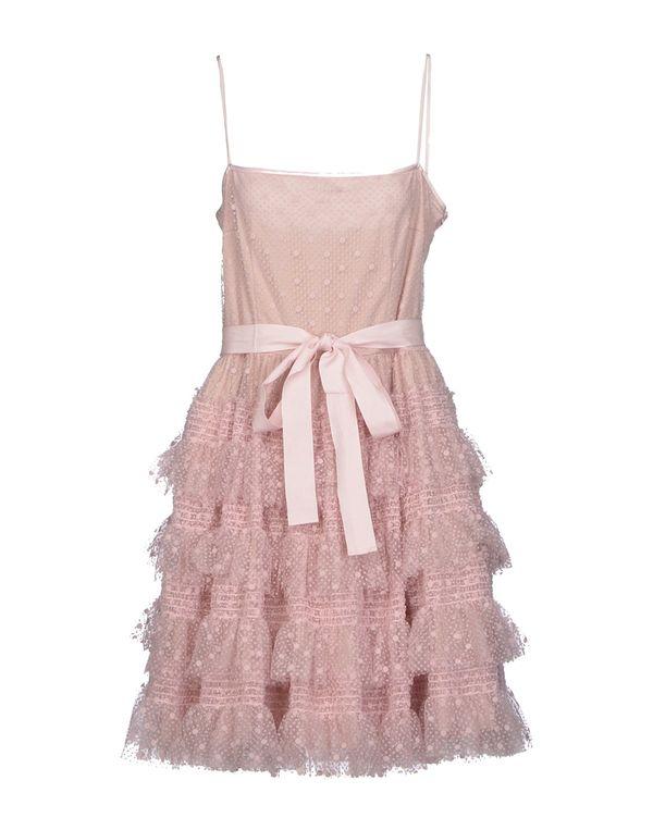 浅粉色 REDVALENTINO 及膝连衣裙