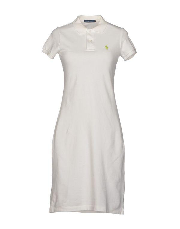 白色 RALPH LAUREN 短款连衣裙