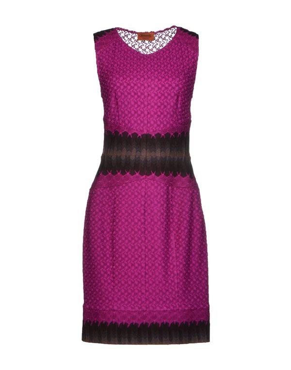 紫色 MISSONI 短款连衣裙
