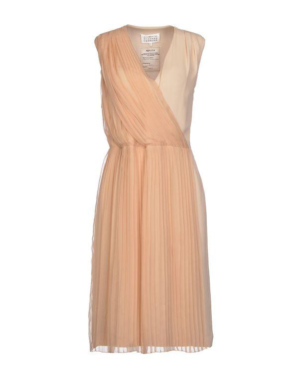 沙色 MAISON MARTIN MARGIELA 4 及膝连衣裙