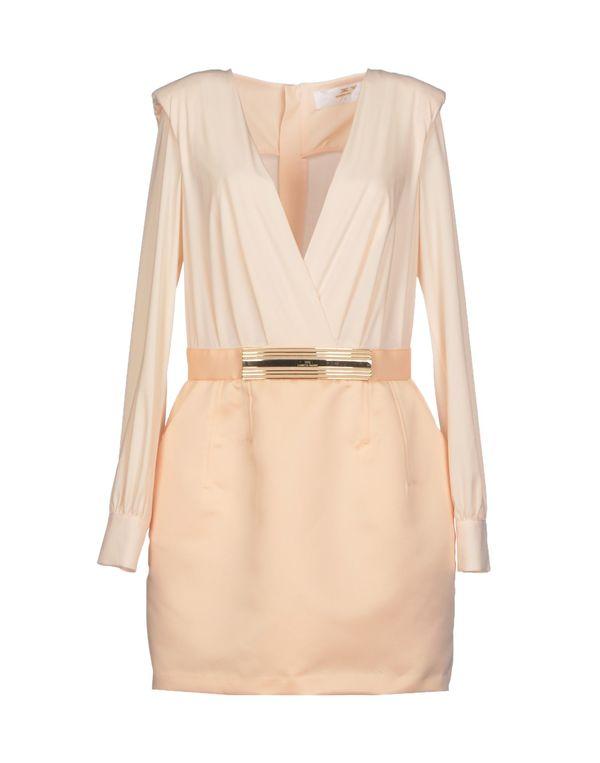 浅粉色 ELISABETTA FRANCHI GOLD 短款连衣裙