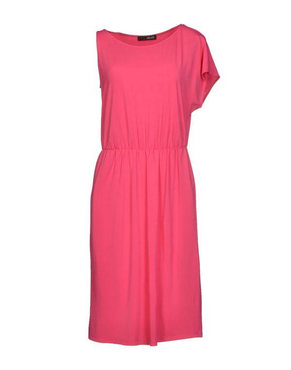 玫红色 LIU •JO 及膝连衣裙