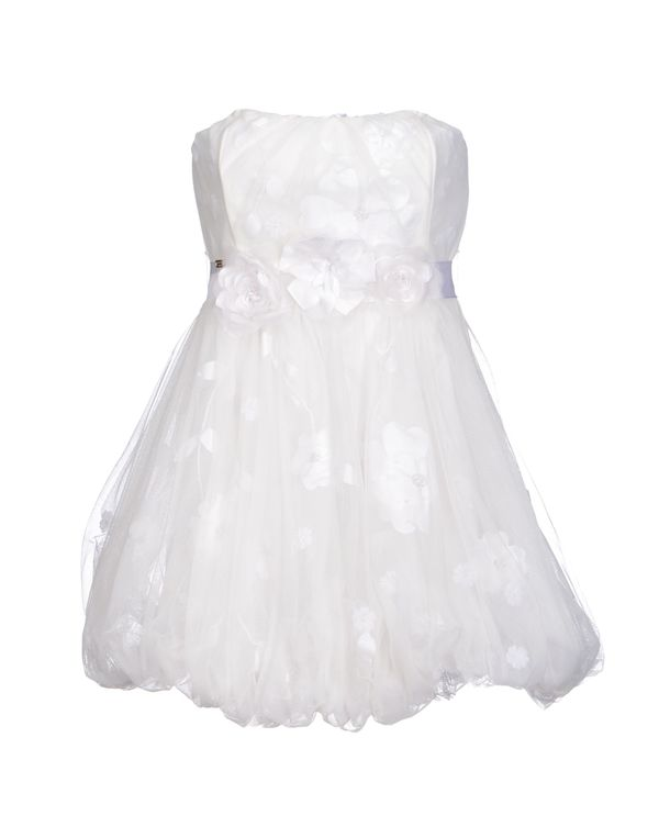 白色 ELISABETTA FRANCHI GOLD 短款连衣裙