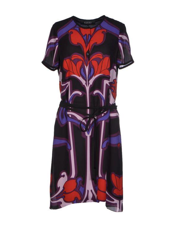 深紫色 GUCCI 短款连衣裙