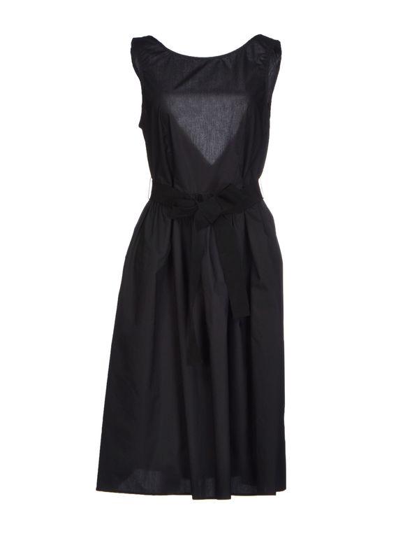 黑色 P.A.R.O.S.H. 及膝连衣裙