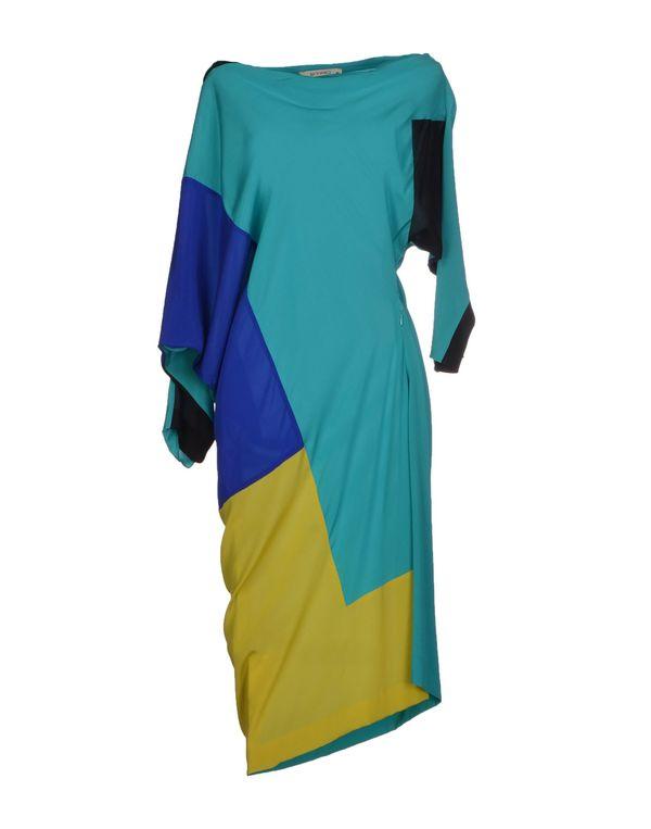 蓝绿色 ETRO 及膝连衣裙