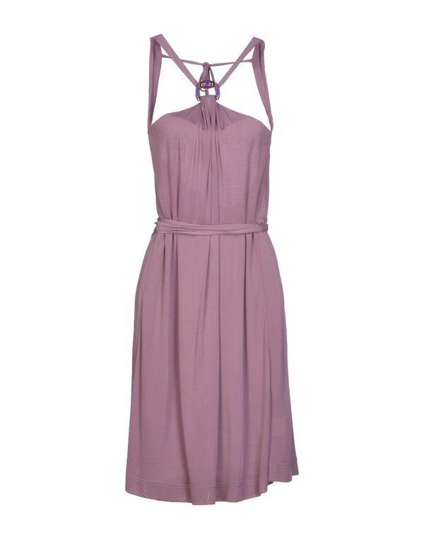 紫红 GUCCI 及膝连衣裙