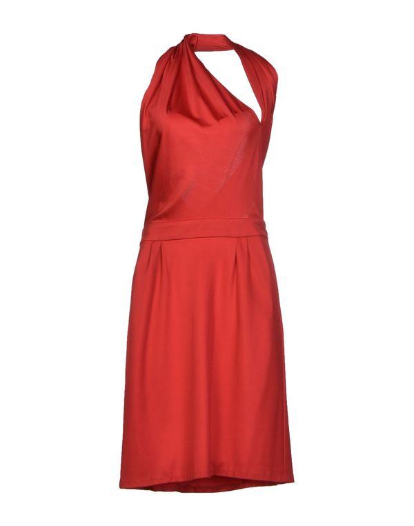 珊瑚红 GUCCI 及膝连衣裙