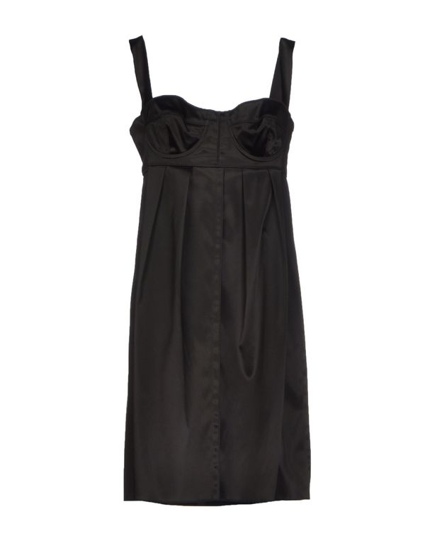 黑色 DOLCE & GABBANA 短款连衣裙