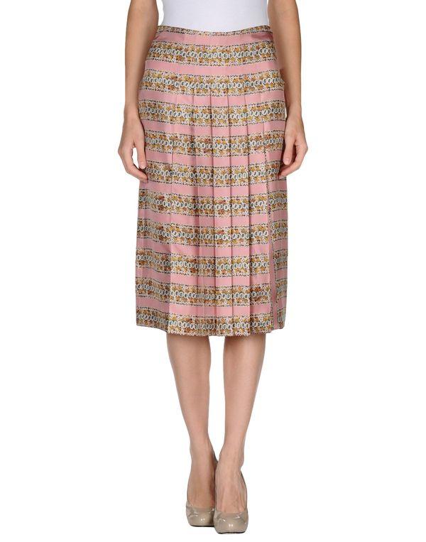 水粉红 ROCHAS 半长裙