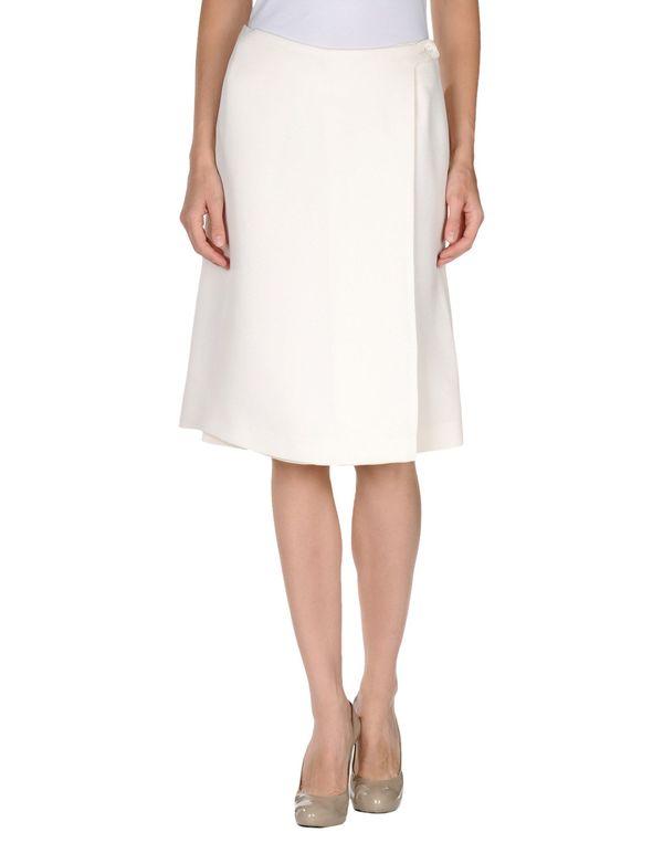 象牙白 ROCHAS 及膝半裙