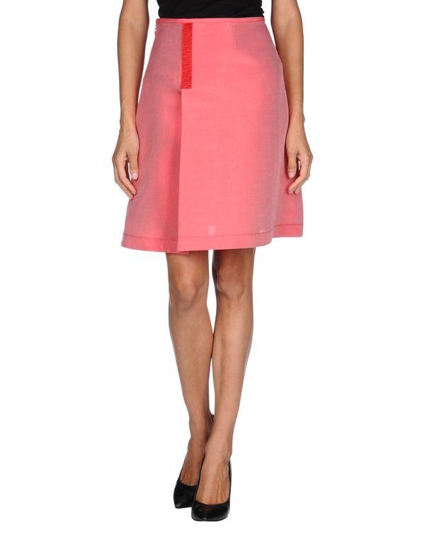 珊瑚红 JIL SANDER NAVY 及膝半裙