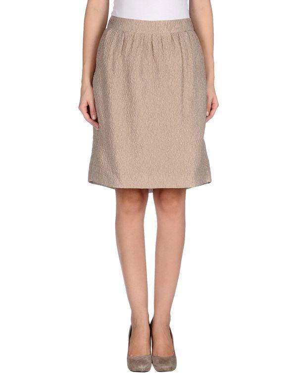 米色 MOSCHINO 及膝半裙