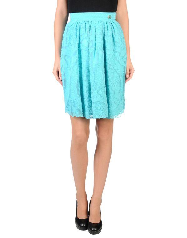 蓝绿色 CLASS ROBERTO CAVALLI 及膝半裙