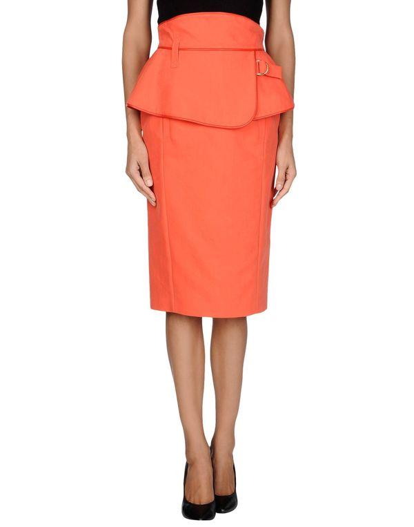 铁锈红 KENZO 半长裙