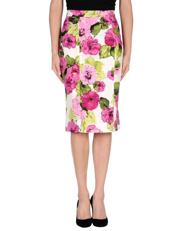紫红 D&G 及膝半裙