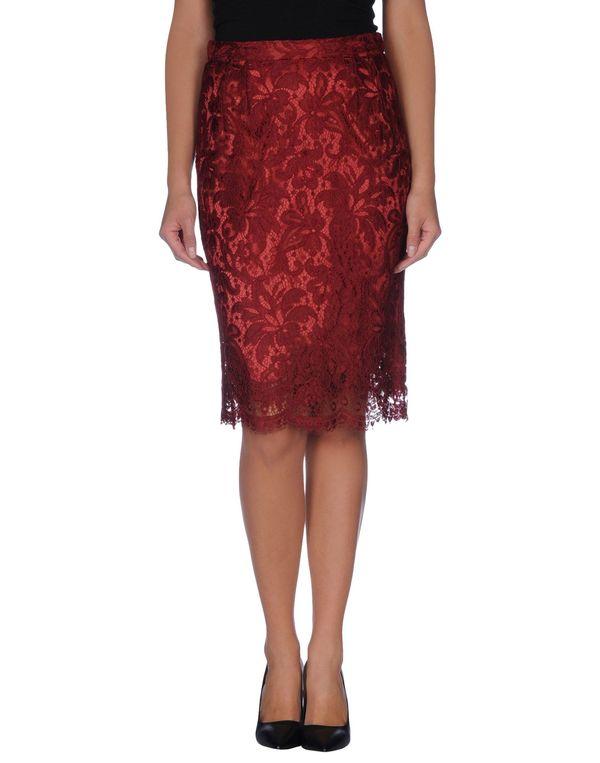 波尔多红 DOLCE & GABBANA 及膝半裙