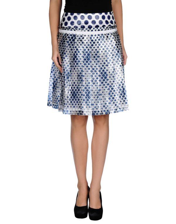 蓝色 D&G 及膝半裙