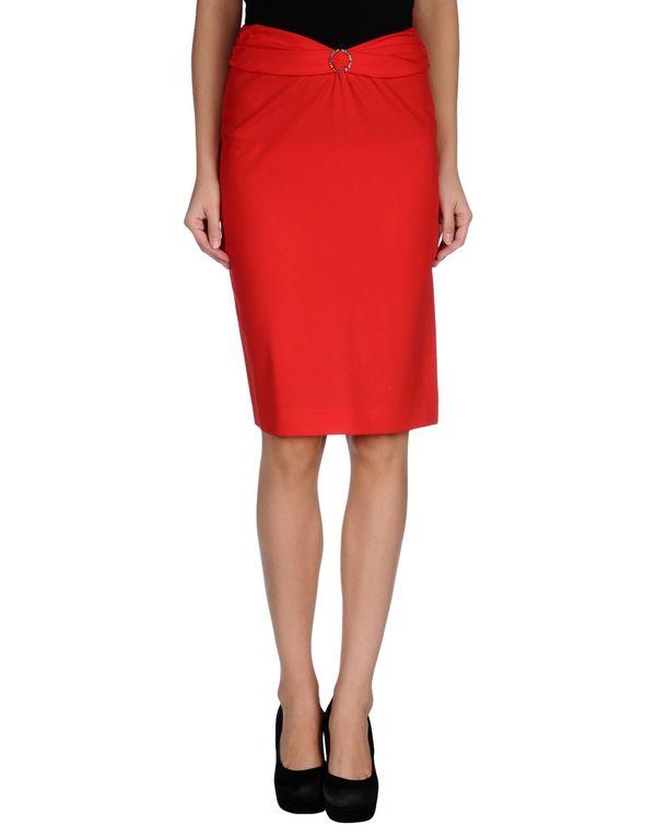 红色 VERSUS 及膝半裙