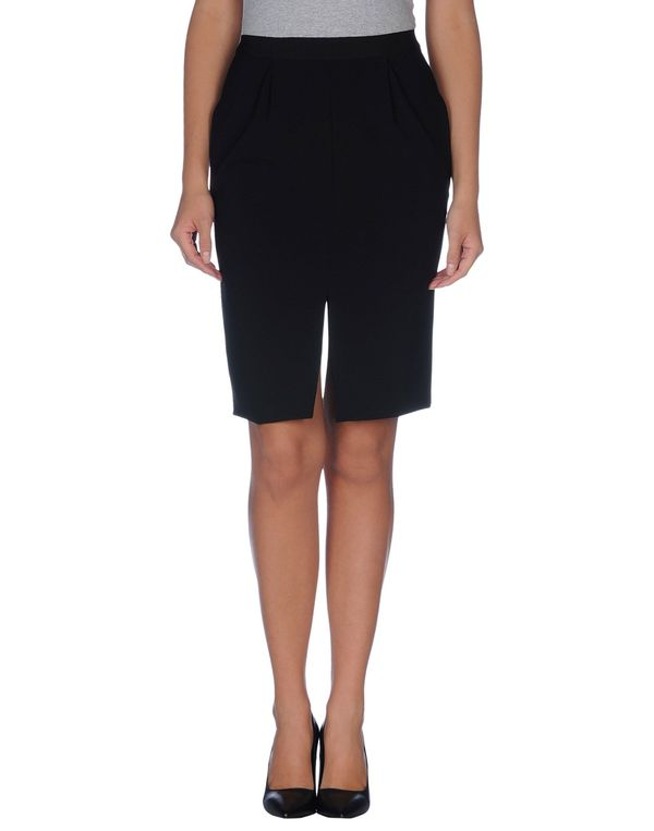 黑色 MOSCHINO 及膝半裙