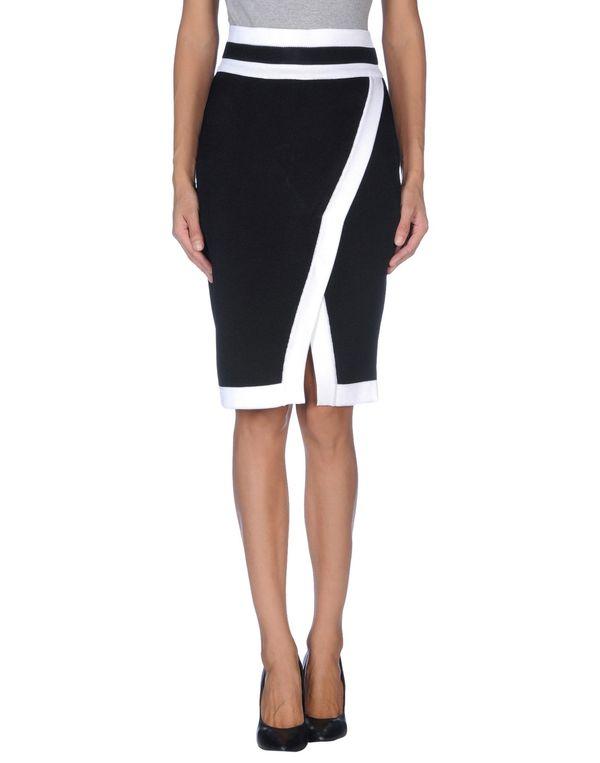黑色 BALMAIN 及膝半裙