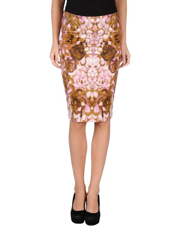 粉红色 MCQ ALEXANDER MCQUEEN 及膝半裙