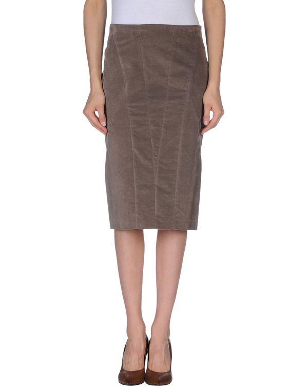 浅棕色 BRUNELLO CUCINELLI 及膝半裙