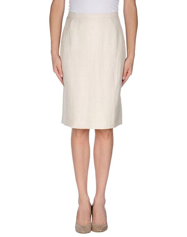 象牙白 ARMANI COLLEZIONI 及膝半裙